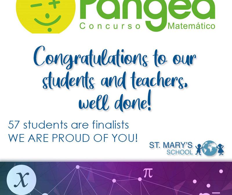 ¡57 alumnos finalistas del Concurso de Matemáticas Pangea, II Edición Online!